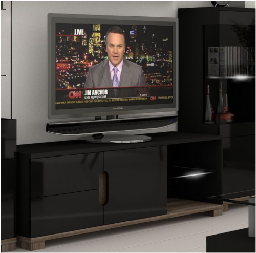 Costa TV unit Black Gloss - 2518